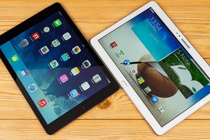 iPad Air Samsung Galaxy Note 10.1