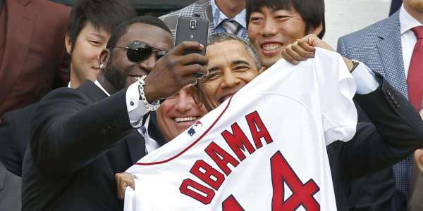 DC: President Obama Welcomes The Boston Red Sox To The White House