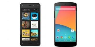 Comparatif Amazon Fire Phone et Google Nexus 5