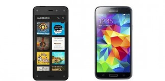 Comparatif Amazon Fire Phone et Samsung Galaxy S5