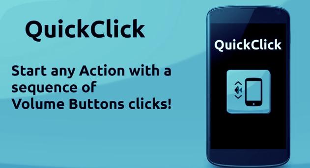 QuickClick: votre bouton volume, un créateur de raccourcis