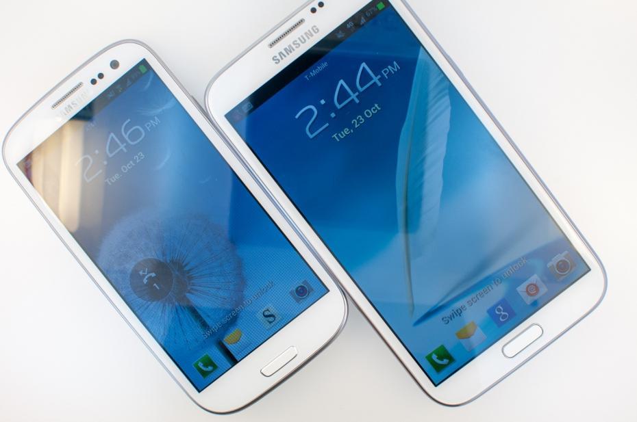 Samsung Galaxy Note 2 vs Samsung Galaxy s3 Samsung Galaxy Note 2