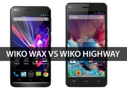 wiko wax vs wiko Highway bandeau