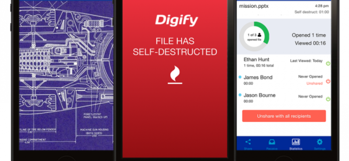 Digify : l'application qui auto-détruit vos documents