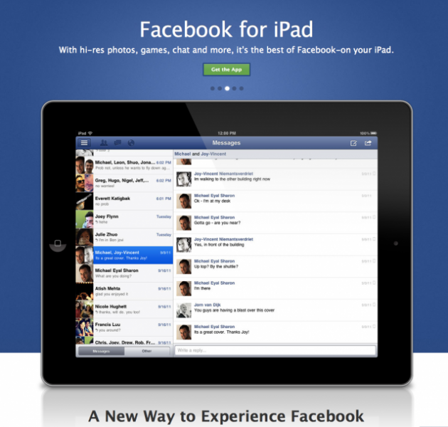 Facebook Messenger arrive sur iPad
