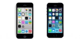 Comparatif Apple iPhone 5C vs iPhone 5S