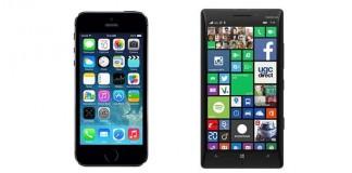 Comparatif iPhone 5S vs Nokia Lumia 930