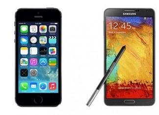Comparatif iPhone 5S vs Samsung Galaxy Note 3