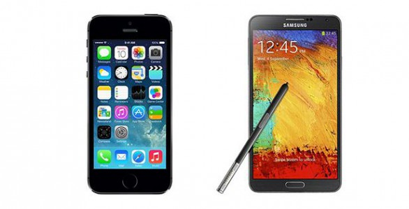 Comparatif iPhone 5S vs Samsung Galaxy Note 3