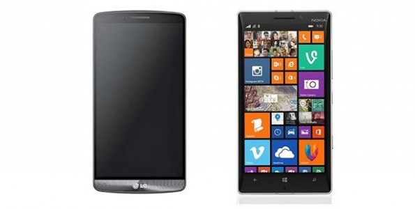 Comparatif LG G3 vs Nokia Lumia 930