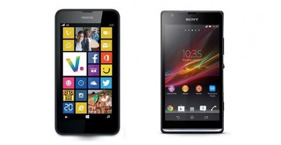 Comparatif Nokia Lumia 635 et Sony Xperia SP