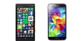 Comparatif Nokia Lumia 930 vs Samsung Galaxy S5