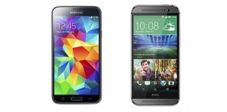 Comparatif Samsung Galaxy S5 vs HTC One M8