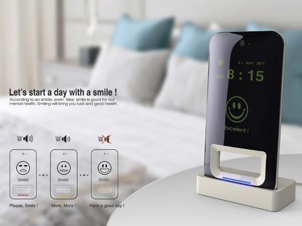 Smile alarm clock: Souriez pour arrêter votre réveil