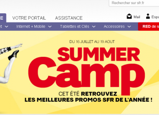 SFR lance son offre Summer camp