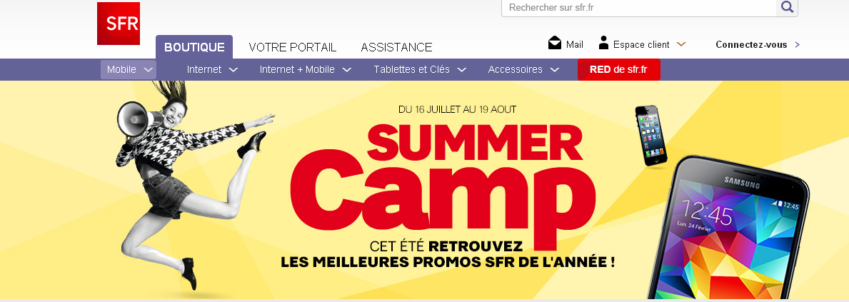 SFR lance son offre Summer camp