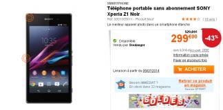 [Bon Plan] Boulanger : le Sony Xperia Z1 à 299 euros