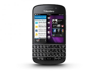 Test BlackBerry Q10, le retour du clavier
