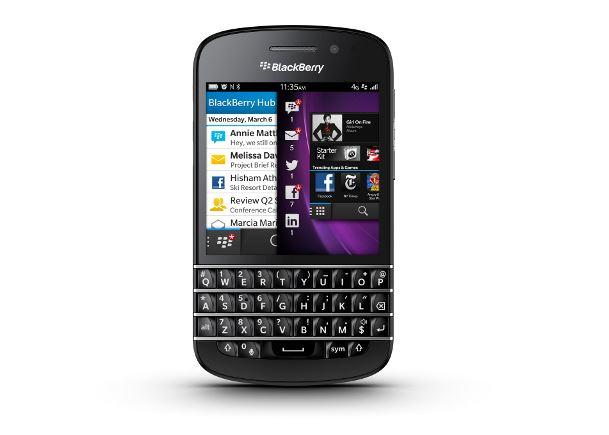 mobiles telephone BlackBerry Q Noir do