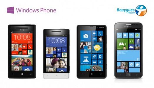 Bouygues Telecom : calendrier de mises à jour des Windows Phone