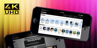Apple iPhone : une application pour filmer en 4K