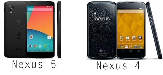 Nexus 5/Nexus 4 : o� l'acheter au meilleur prix en ce 14 septembre 2014 ?