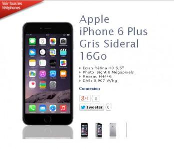 iPhone 6 : les meilleurs prix chez NRJ Mobile