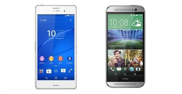 Sony Xperia Z3 vs HTC One M8 : le comparatif