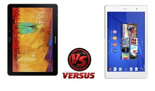 Samsung Galaxy Note 10.1 Edition 2014 vs Sony Xperia Z3 Tablet Compact, le comparatif