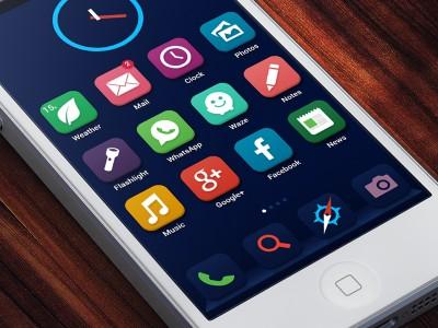ios 8 interface iPhone 6