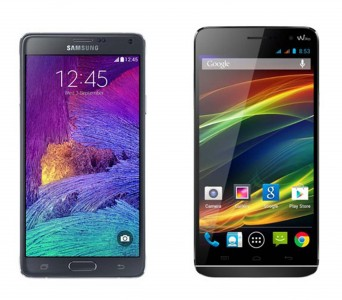 samsung galaxy note 4 vs wiko slide