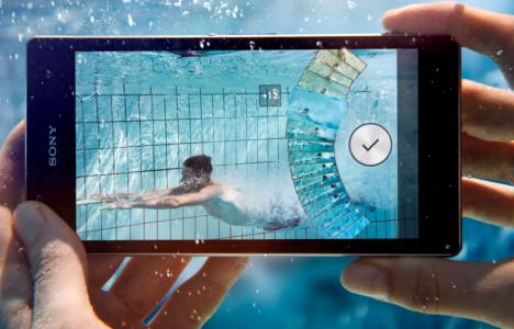 Sony Xperia Z1 Sous l'eau