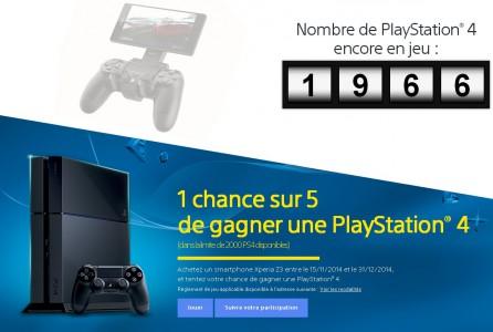 Votre Sony Xperia Z3 peut vous faire gagner une PS4