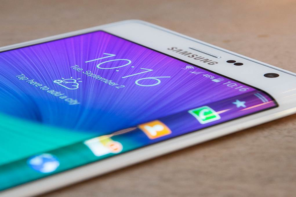 samsung galaxy note edge de cote