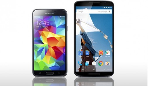 Samsung Galaxy S5 vs Nexus 6, le comparatif