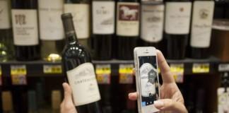 next glass application bouteille de vin