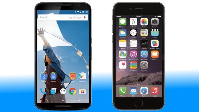 Nexus 6 vs iPhone 6 plus , le comparatif - Meilleur Mobile