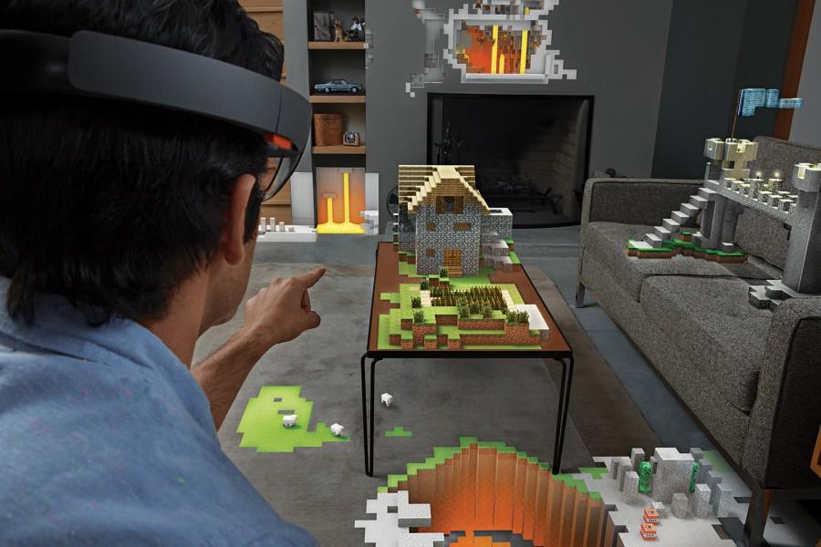 Hololens Minecraft Microsoft