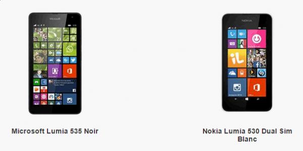 Microsoft Lumia 535 vs Nokia Lumia 530