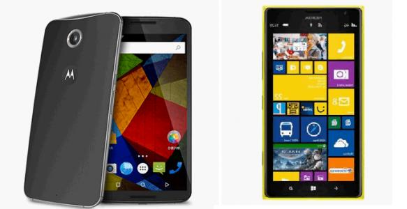 Nokia Lumia 1520 vs Nexus 6