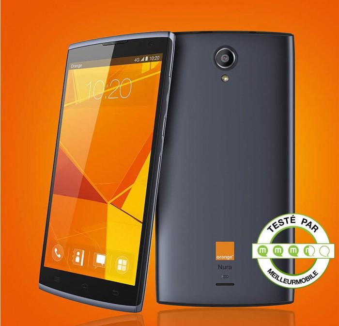 test du orange nura le meilleur smartphone op rateur meilleur mobile. Black Bedroom Furniture Sets. Home Design Ideas