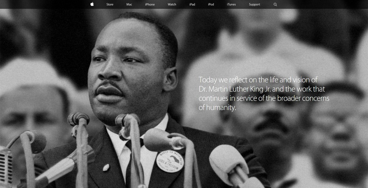 apple martin luther king