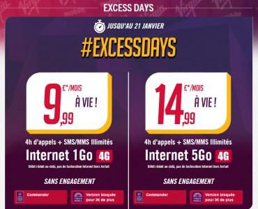 ExcessDay : dernier jour des offres  4G de Virgin Mobile