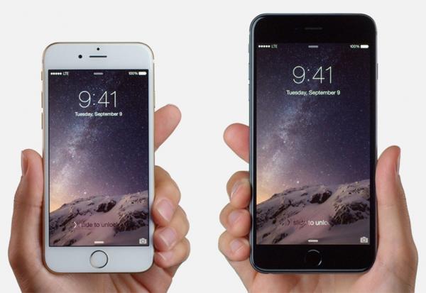 iphone 6 et 6 plus dans une main