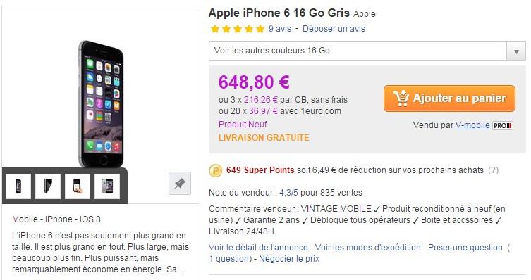 iphone 6 priceminister