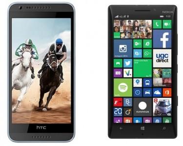 HTC Desire 820 vs Nokia Lumia 930 : le comparatif