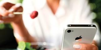 Nourriture smartphone