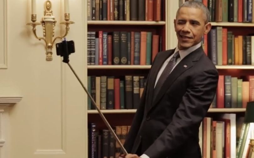 perche à selfie obama
