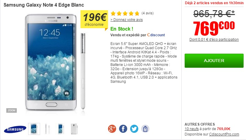 samsung galaxy note edge cdiscount