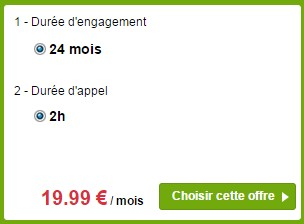 Forfait Bouygues Telecom Sensation 1Go 2h 24 mois haut de gamme
